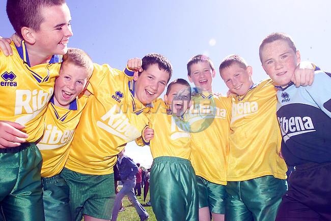 Cloontagh NS Donegal at the MDL Finals in Navan, declan Grant, Michael Noone, Gearoid Doherty, Shane Holmes, Shaun Doherty, daniel Mulhane, Jonathan Noone...Picture Fran Caffrey Newsfile...This Picture is sent to you by:..Newsfile Ltd.The View, Millmount Abbey, Drogheda, Co Louth, Ireland..Tel: +353419871240.Fax: +353419871260.GSM: +353862500958.ISDN: +353419871010.email: pictures@newsfile.ie.www.newsfile.ie