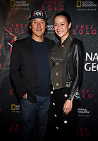 "WEST HOLLYWOOD - NOVEMBER 11: Jimmy Chin and Elizabeth Chai Vasarhelyi attend a screening of National Geographic's ""Free Solo"" at Pacific Design Center on November 11, 2018 in West Hollywood, California. (Photo by Frank Micelotta/National Geographic/PictureGroup)"