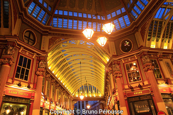 Royaume Uni, Grande Bretagne, Angleterre, Londres, Leadenhall market//United Kingdom, Great Britain, England, London, Leadenhall market