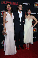 "HOLLYWOOD, LOS ANGELES, CA, USA - MARCH 20: Rosario Dawson, Diego Luna, America Ferrera at the Los Angeles Premiere Of Pantelion Films And Participant Media's ""Cesar Chavez"" held at TCL Chinese Theatre on March 20, 2014 in Hollywood, Los Angeles, California, United States. (Photo by David Acosta/Celebrity Monitor)"