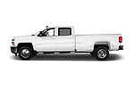 Car Driver side profile view of a 2016 Chevrolet Silverado-3500HD LT-Crew-Cab-Long-Box-DRW 4 Door Pick-up Side View
