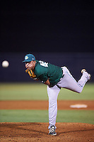 Daytona Tortugas relief pitcher Nolan Becker (49) during a game against the Tampa Yankees on August 5, 2016 at George M. Steinbrenner Field in Tampa, Florida.  Tampa defeated Daytona 7-1.  (Mike Janes/Four Seam Images)