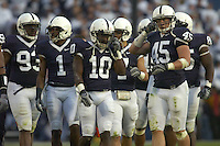 13 October 2007:  The Penn State defense.  Lydell Sargeant (10), Sean Lee (45).  The Penn State Nittany Lions defeated the Wisconsin Badgers 38-7 October 13, 2007 at Beaver Stadium in State College, PA..