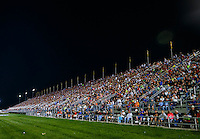 Sep 2, 2016; Clermont, IN, USA; General view of fans in the main grandstands during NHRA qualifying for the US Nationals at Lucas Oil Raceway. Mandatory Credit: Mark J. Rebilas-USA TODAY Sports