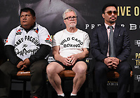 BEVERLY HILLS - MAY 22: Buboy Fernandez, Freddie Roach, and Manny Pacquiao at the press conference for the Manny Pacquiao vs Keith Thurman Premier Boxing Champions on FOX Sports Pay-Per-View fight on July 20 in Las Vegas. (Photo by Frank Micelotta/Fox Sports/PictureGroup)