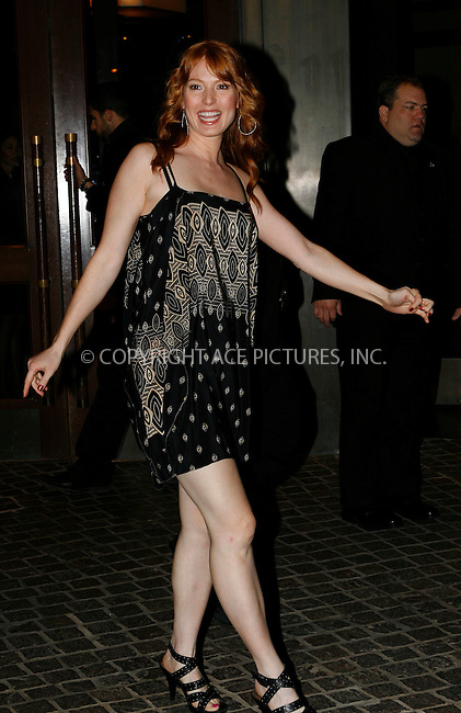 WWW.ACEPIXS.COM . . . . .  ....October 18 2010, New York City....Actress Alicia Witt arriving at The Cinema Society & Everlon Diamond Knot Collection's screening of 'Welcome To The Rileys' on October 18, 2010 at the Tribeca Grand Hotel in New York City.....Please byline: NANCY RIVERA- ACEPIXS.COM.... *** ***..Ace Pictures, Inc:  ..Tel: 646 769 0430..e-mail: info@acepixs.com..web: http://www.acepixs.com