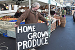 02/12/2012 Frome Christmas Super Market, flea market and artisan market encompassing Cheese and Grain car park, Market Place, Westway Precinct, Stony Street and Catherine Hill. Home grown produce on offer in Market Place.
