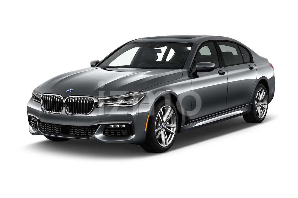 2016 BMW 7 Series M Sport 4 Door Sedan Angular Front stock photos of front three quarter view