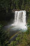 Koosah Falls with double rainbow, McKenzie River, Willamette National Forest, Cascade Mountains, Oregon.