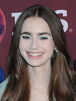 """08 April 2019 - New York, New York - Lily Collins at Times Talk with cast of """"LES MISERABLES"""" at the Times Center. <br /> CAP/ADM/LJ<br /> ©LJ/ADM/Capital Pictures"""