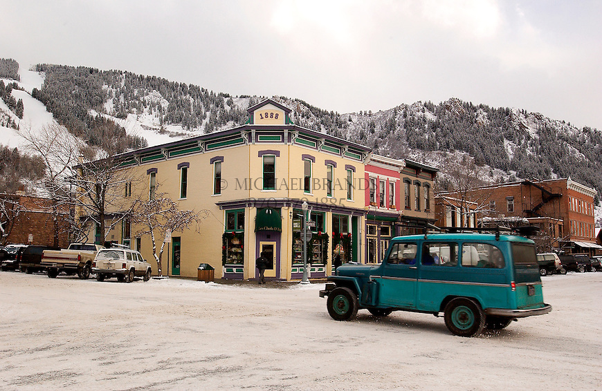 Downtown Aspen, Colorado. © Michael Brands. 970-379-1885.