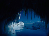 Ice cave along the shore of Lake Suprtior.