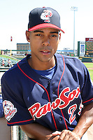 July 13, 2003:  Lamont Matthews of the Pawtucket Red Sox during a game at Frontier Field in Rochester, New York.  Photo by:  Mike Janes/Four Seam Images