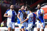 Blackburn Rovers players celebrate the second goal scored by Adam Armstrong middle during AFC Bournemouth vs Blackburn Rovers, Sky Bet EFL Championship Football at the Vitality Stadium on 12th September 2020