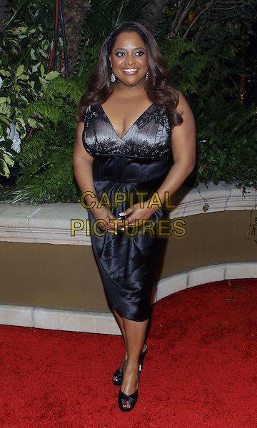 SHERRI SHEPHERD.QVC  Celebrates Red Carpet Style At The Four Seasons Hotel  held at the Four Seasons, Beverly Hills, California, USA..March 5th, 2010.full length black dress sleeveless .CAP/ADM/TC.©T. Conrad/AdMedia/Capital Pictures.