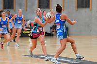 Steel Gina Crampton in action during the Netball Pre Season Tournament - Mystics v Steel at Ngā Purapura, Otaki, New Zealand on Saturday 9 February  2019. <br /> Photo by Masanori Udagawa. <br /> www.photowellington.photoshelter.com