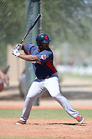 Cleveland Indians first baseman Nelson Rodriguez (41) during an instructional league game against the Cincinnati Reds on September 28, 2013 at Goodyear Training Complex in Goodyear, Arizona.  (Mike Janes/Four Seam Images)