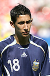 12 July 2007: Angel Di Maria. Argentina's Under-20 Men's National Team defeated Poland's Under-20 Men's National Team 3-1 in a  round of 16 match at the National Soccer Stadium (also known as BMO Field) in Toronto, Ontario, Canada during the FIFA U-20 World Cup Canada 2007 tournament.