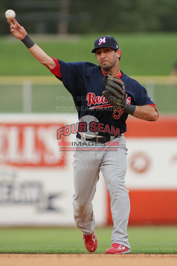 August 6, 2009:  Daniel Descalso of the Memphis Redbirds, Pacific Cost League Triple A affiliate of the St. Louis Cardinals, during a game at the Spring Mobile Ballpark in Salt Lake City, UT.  Photo by:  Matthew Sauk/Four Seam Images