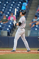 Daytona Tortugas third baseman Brantley Bell (24) at bat during a game against the Tampa Tarpons on April 18, 2018 at George M. Steinbrenner Field in Tampa, Florida.  Tampa defeated Daytona 12-0.  (Mike Janes/Four Seam Images)