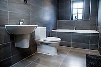 Wednesday 08 February 2017<br />Pictured: Upstairs bathroom <br />Re: Huw and Kelly have moved into a new Waterstone House near Swansea, South Wales.