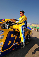 Sept. 27, 2008; Kansas City, KS, USA; NASCAR Nationwide Series driver David Stremme during qualifying prior to the Kansas Lottery 300 at Kansas Speedway. Mandatory Credit: Mark J. Rebilas-