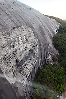 Stock photo: stone mountain carving as seen from side at a height from the skyride car and the surrounding trees.