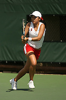 11 May 2007: Jessica Nguyen during the first round of the NCAA women's tennis tournament at the Taube Family Tennis Stadium in Stanford, CA.