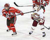 Dayle Wilkinson (SLU - 2), Alex Carpenter (BC - 5) - The Boston College Eagles defeated the visiting St. Lawrence University Saints 6-3 (EN) in their NCAA Quarterfinal match on Saturday, March 10, 2012, at Kelley Rink in Conte Forum in Chestnut Hill, Massachusetts.