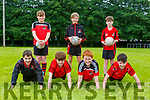 Fossa young footballers getting into shape for the resumption of football Jamie Vousden, Sam Clerkin, Fionn Doyle, Luke McCann. Back row: Mikey Moroney, Harry O'Connor and Morgan O'Brien