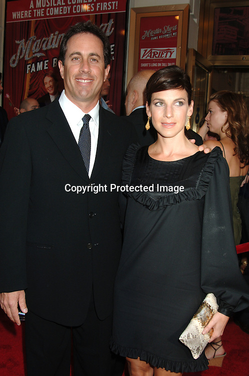 "Jerry Seinfeld and Jessica Seinfeld ..arriving for the Broadway Opening of ""Martin Short: Fame Becomes Me"" on August 17, 2006 at The Bernard B Jacobs Theatre. ..Robin Platzer. Twin Images"