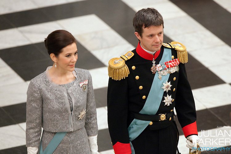 Crown Prince Frederik, and Crown Princess Mary of Denmark, attend the New Year Court for diplomats at Christiansborg Palace, in Copenhagen, Denmark.