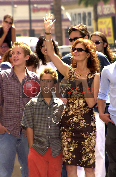 Susan Sarandon with sons Jack and Miles