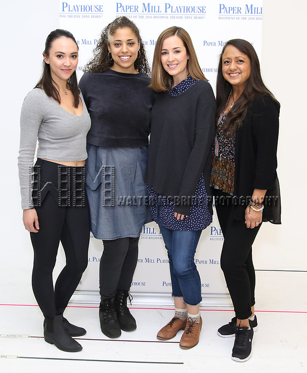 """Belinda Allyn, Tatiana Wechsler, Hannah Elless and Natalie Toro during the meet the cast photo call for the Paper Mill Playhouse production of  """"Benny & Joon"""" at Baza Dance Studios on 3/21/2019 in New York City."""