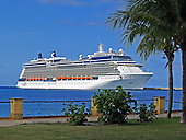 The Celebrity Silhouette, the fourth of five Solstice-class cruise ships operated by Celebrity Cruises, a subsidiary of Royal Caribbean Cruises Ltd., is docked in St. Croix, United States Virgin Islands on Saturday, December 17, 2011.  The Silhouette was launched in July, 2011.  The ship is 1,033 feet (315 m) long and can carry 2,885 passengers..Credit: Ron Sachs / CNP