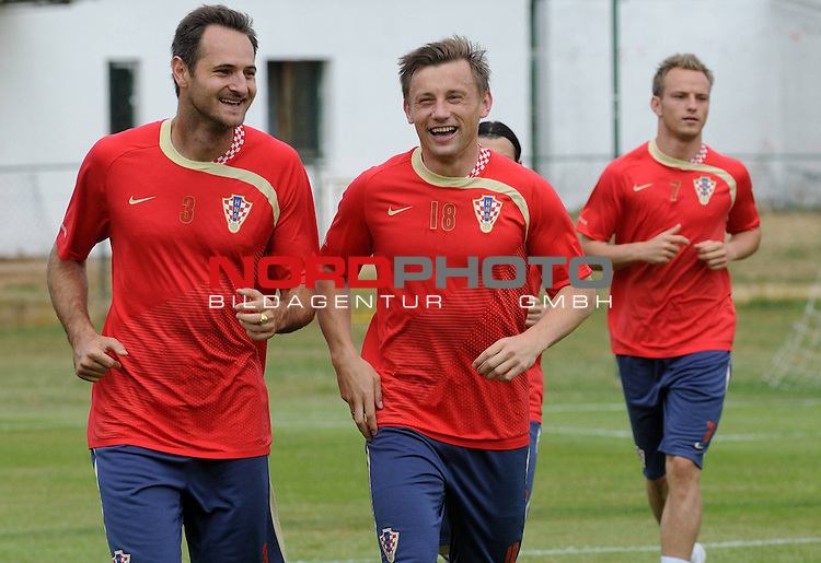 29.05..2009., Rovinj - First day of preparations croatian football national team. 06.06.2009. they are playing qualifying match with Ukraine for World Championship 2010. Josip Simunic, Ivica Olic. <br /> Photo: Anto Magzan/ / nph (  nordphoto  )