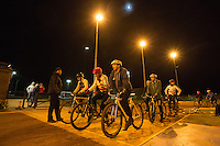 31 MAR 2015 - IPSWICH, GBR - Team members wait for the start of the next drill during an Ipswich Cycle Speedway Club training session at Whitton Sports and Community Centre in Ipswich, Great Britain (PHOTO COPYRIGHT © 2015 NIGEL FARROW, ALL RIGHTS RESERVED)