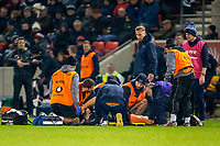 8th November 2019; AJ Bell Stadium, Salford, Lancashire, England; English Premiership Rugby, Sale Sharks versus Coventry Wasps; Josh Beaumont of Sale Sharks receives treatments after an injury - Editorial Use