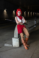 Lyra Hindrichs, Vega Cosplay, Sakura Con, Seattle, WA, USA.