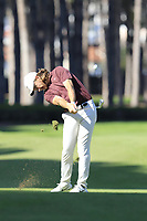 Tommy Fleetwood (ENG) plays his 2nd shot on the 3rd hole during Saturday's Round 3 of the 2018 Turkish Airlines Open hosted by Regnum Carya Golf &amp; Spa Resort, Antalya, Turkey. 3rd November 2018.<br /> Picture: Eoin Clarke | Golffile<br /> <br /> <br /> All photos usage must carry mandatory copyright credit (&copy; Golffile | Eoin Clarke)