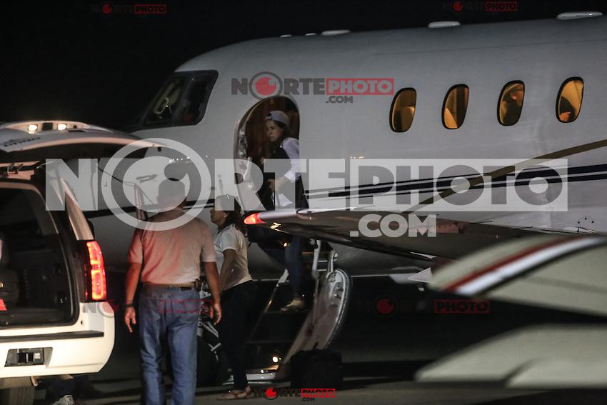 el cantante Chayanne a su llegada a la ciudad de Hermosillo