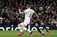 Patrik Schick of RB Leipzig  and Toby Alderweireld of Tottenham Hotspur during Tottenham Hotspur vs RB Leipzig, UEFA Champions League Football at Tottenham Hotspur Stadium on 19th February 2020