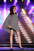 A model wearing grey top by Silvian Heath at the Moda sotto le stelle fashion show held in little Italy in Montreal