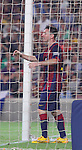 18.10.2014 Barcelona, Spain.La Liga day 8. Picture show Leo Messi in action during game between FC Barcelona against Eibar at Camp Nou