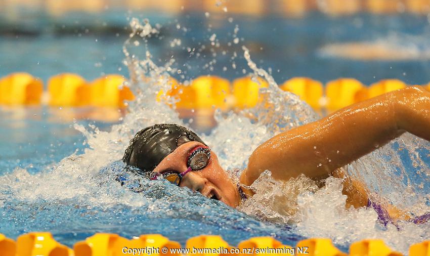 Eve Thomas. Swimming New Zealand Aon National Age Group Championships, Wellington Regional Aquatic Centre, Wellington, New Zealand, Wednesday 17 April 2019. Photo: Simon Watts/www.bwmedia.co.nz