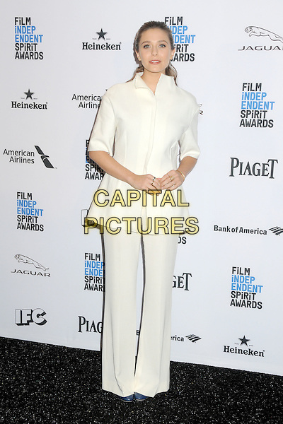 24 November 2015 - Hollywood, California - Elizabeth Olsen. 2016 Film Independent Spirit Awards Nomination Announcement held at The W Hotel. <br /> CAP/ADM/BP<br /> &copy;BP/ADM/Capital Pictures