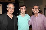 "Peter Melnick, Andy Sandberg & Bill Russell attending the Meet & Greet for 'The Last Smoker In America'"" at the New 42nd Street Studios in New York City on June 21, 2012"