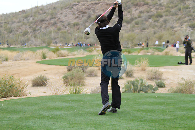 Bubba Watson (USA) in action on the 11th tee during the Semi-Final Matches on Day 4 of the Accenture Match Play Championship from The Ritz-Carlton Golf Club, Dove Mountain, Saturday 26th February 2011. (Photo Eoin Clarke/golffile.ie)