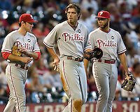 Utley, Werth, Feliz 6079.jpg Philadelphia Phillies at Houston Astros. Major League Baseball. September 7th, 2009 at Minute Maid Park in Houston, Texas. Photo by Andrew Woolley.