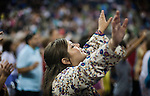 People worship during The Response: A Call to Prayer for a Nation in Crisis hosted by Texas' Governor Rick Perry, at Reliant Stadium in Houston, Texas on Saturday, August 6, 2011. An estimated 30,000 people, mostly Christian, attended the event that was largely seen as a politically controversial as Perry nears a decision on whether to seek Republican nomination for president...Ben Sklar for Newsweek Magazine